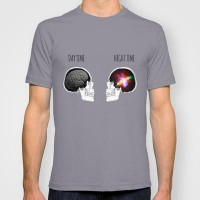 Day and Night T-shirt by fyyff | Society6