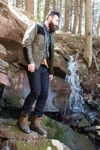 Nature Hipster Bear (mensfashionworld: PRPS Goods F/W 2013 lookbook)