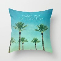 meet me in paradise Throw Pillow by Sylvia Cook Photography | Society6