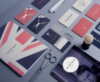 Barber Shop Branding by Pete Gardner