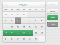 Calendar & button by Jonathan Moreira