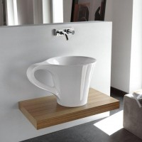 (170) Fancy - Cup Wash Basin by Meneghello Paolelli