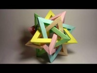 Origami Five Intersecting Tetrahedra Folding Instructions | Origami Instruction