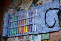 small + friendly: No-Sew Colored Pencil Roll