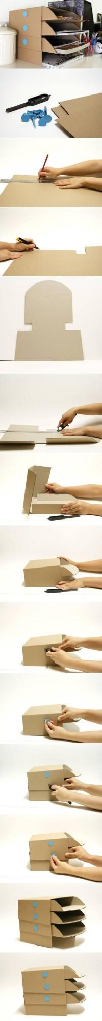 DIY Cardboard Desk Tray DIY Projects | UsefulDIY.com