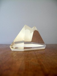 viciosa's save of Vintage Lucite / Resin Geometric Mountain Sculpture on Wanelo