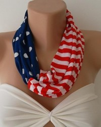 Patriotic Twisted Scarf Shawl by CarnavalBoutique on Etsy