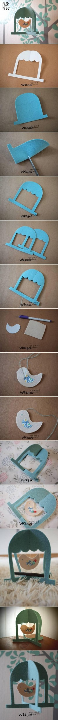 DIY Cute Felt Bird Mobile DIY Projects | UsefulDIY.com