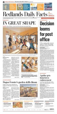 Newseum   Today's Front Pages   Redlands Daily Facts