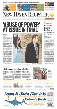 Newseum   Today's Front Pages   New Haven Register