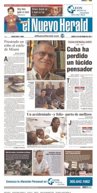 Newseum   Today's Front Pages   El Nuevo Herald