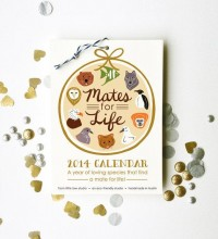 Mates for Life 2014 Calendar 5x7 wall hanging nature by littlelow