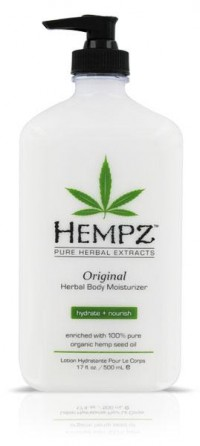 Hempz Original Moisturizer is an all-day herbal body lotion providing dramatic skin moisturization to improve the health of skin through the use of pure Hemp Seed Oil and Extract!