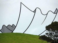 "Let's Build a Home - Neil Dawson ""Horizons"" 1994, Welded and Painted..."