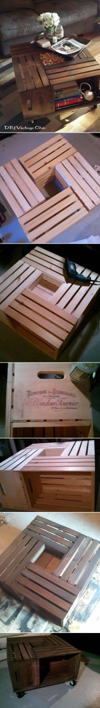 DIY Wine Crate Table DIY Projects | UsefulDIY.com