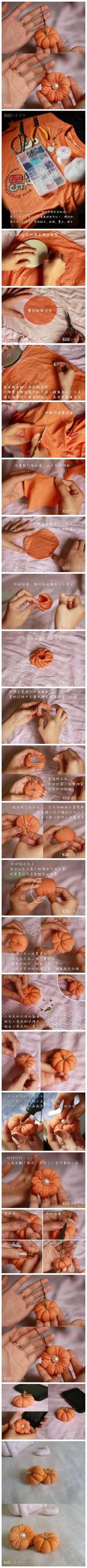 DIY Old T-Shirt Pumpkin Ornament DIY Projects | UsefulDIY.com