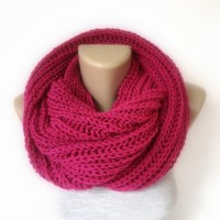neon pink infinity scarf women scarves men by senoAccessory