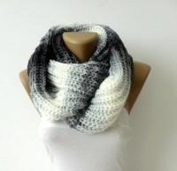 infinity knitted women scarf men scarf loop by senoAccessory