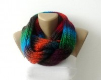Scarf women knitted infinity scarf Chunky by senoAccessory on Etsy