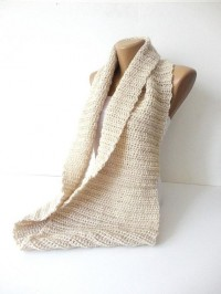 knitted scarf infinity scarf women scarves men by senoAccessory