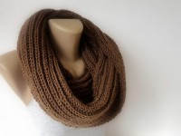brown winter scarf infinity scarf knitting scarf by senoAccessory