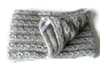 gray infinity Scarf. crochet women scarf loop by senoAccessory