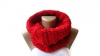 Infinity Knitted scarf women scarves Block by senoAccessory