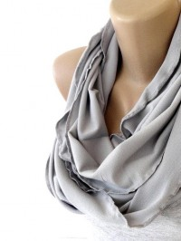 gray jersey scarf infinity scarf scarves fall by senoAccessory