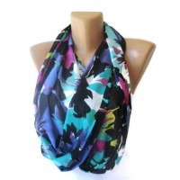 neon infinity scarf trendscarf girly girl by senoAccessory