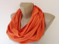 orange infinity scarf cotton scarves 2014 fashion by senoAccessory