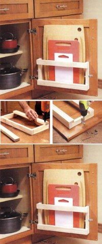 DIY Kitchen Board Rack DIY Projects | UsefulDIY.com