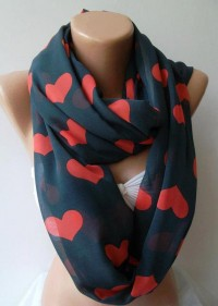 LOVE SCARF Infinity Scarf Loop Scarf Circle Scarf by womann