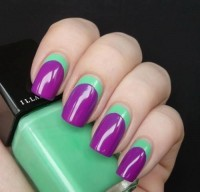 My Style - Hair, Clothes & accesories / purple and green nails | We Heart It