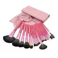 20Pcs Pink High-grade Special Makeup Brush Set - makeupsuperdeal.com