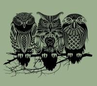 Owls of the Nile Art Print by Rachel Caldwell | Society6