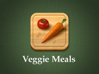 Veggie Meals app icon by Max Rudberg