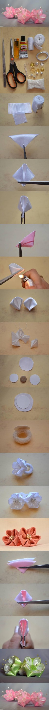 DIY Round Petals Ribbon Flower DIY Projects | UsefulDIY.com