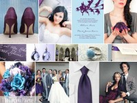 The Perfect Palette: {A Wedding to Remember}: A Palette of Plum, Powder Blue & Gray
