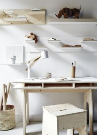 Plywood Workspace - via Coco Lapine | Work space