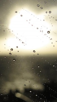 Macro glass a drop of rain - HTC wallpapers