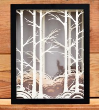 Forest Paper Cut Shadow Box | Art Pieces | Bird Mafia | Scoutmob Shoppe | Product Detail