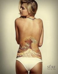 Lower Back Waves Tattoo #Tattoo #Tattoos