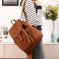 [grhmf22000173]British Style Pure Leisure Braid Backpack
