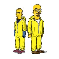 'Breaking Bad' Characters Drawn Like 'The Simpsons' - DesignTAXI.com