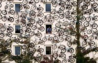 120 Bikes Displayed on Wacky Shop Facade in Altlandsberg, Germany | Tourism On The Edge
