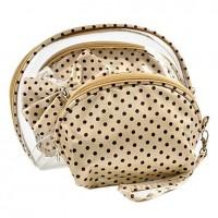 1pcs Transparent Plastic Cosmetic Bag Set (26x14x4cm,Color for Random) - makeupsuperdeal.com