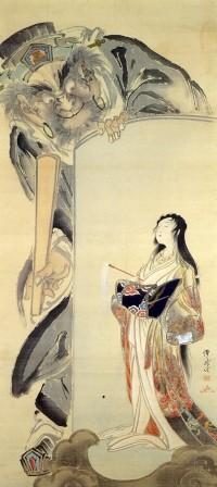 Kawanabe_Kyosai_EnmaToJigokudayu-zu.jpg (651×1459)