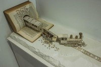 Book Sculpture: Derailing my train of thought on