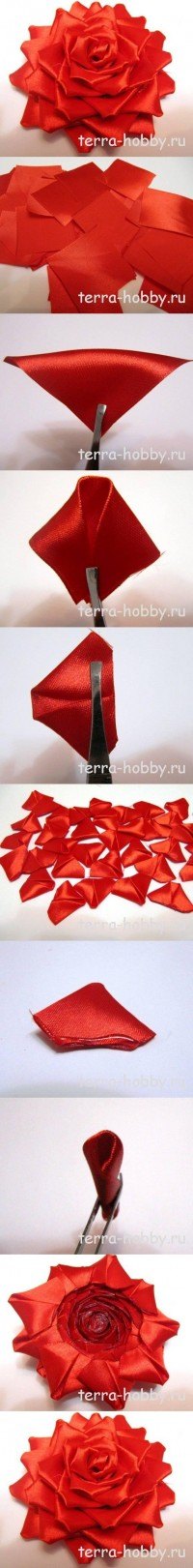 DIY Elegant Ribbon Rose for Wedding DIY Projects | UsefulDIY.com