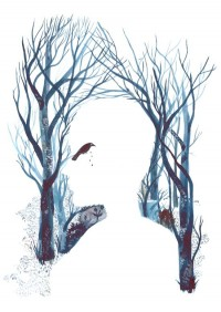 empty forest, empty heart - raquel aparicio illustration